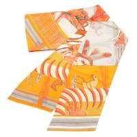 シルクスカーフ マキシツイリー Pani La Shar Pawnee BRIDES de GALA オレンジ