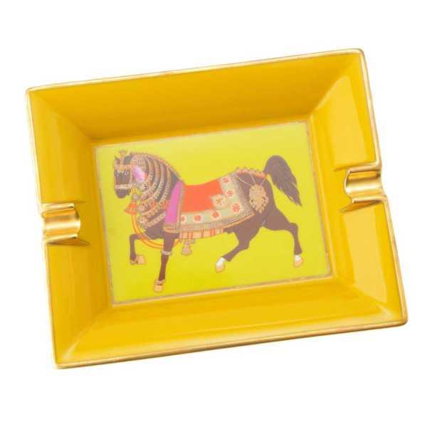アッシュトレイ 馬柄 ホース 灰皿 ライムグリーン