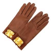 エルメス コリエドシアン レザーグローブ 手袋 メドール ブラウン 7