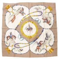 カレ90 シルク スカーフ PAMPA パンパ グレー