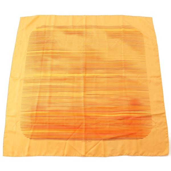 カレ90 シルクスカーフ FAUBOURG EXPRESS フォーブルエキスプレス オレンジ