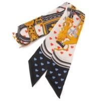 17年限定 ツイリー シルク スカーフ Brides de Gala Love 式典用馬勒ラブ ハート
