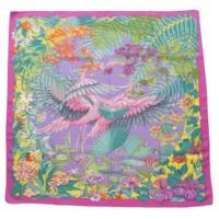 カレ90 シルクスカーフ Flamingo Party フラミンゴパーティ パープル