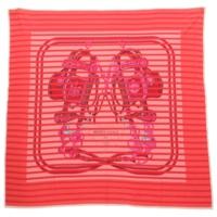 スムーズカレ ボーダー シルクスカーフ BRIDES de GALA 式典用馬勒 レッド ピンク