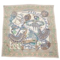 カレ140 カシミヤシルク スカーフ ショール ZENOBIE REINE DE PALMYRE パルミラの女王ゼノビア