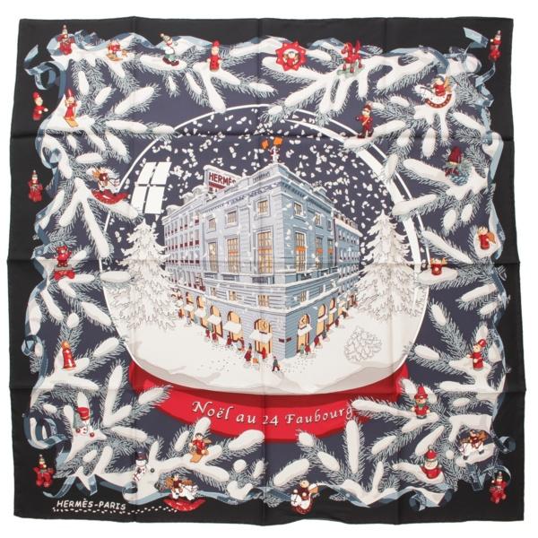 カレ90 シルクスカーフ  Noel au 24 Faubourg フォーブル 24番地のクリスマス