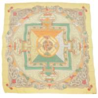カレ140 大判 シルク スカーフ ANIMAUX SOLAIRES 太陽の動物たち
