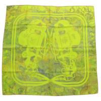 カレ90 シルク スカーフ BRIDES de GALA 式典用馬勒 グリーン