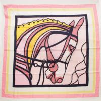 カレ140 シルク スカーフ ローブデュソワール ROBE DU SOIR ピンク
