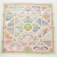 カレ90 スカーフ Flanerie a Versailles ヴェルサイユの散歩 グリーン