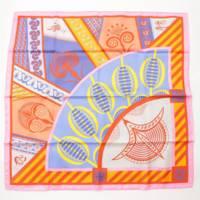 カレ90 シルクスカーフ GEOMETRIE CRETOISE クレタの幾何学 マルチカラー