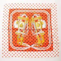 カレ90 シルクスカーフ BRIDES de GALA LOVE ブリッド ドゥ ガラ ラヴ ハート柄