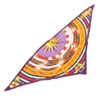 トライアングル シルク 三角スカーフ DIES ET HORE 占星術 オレンジ×パープル
