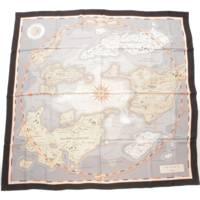 カレ140 シルクスカーフ Planisphere dun Monde Eduestre