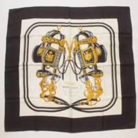 カレ90 シルクスカーフ BRIDES de GALA 式典用馬勒 馬具 ブラック