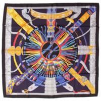 カレ90 シルクスカーフ HERMES SOLEIL DE SOIE シルクの太陽 ブラック