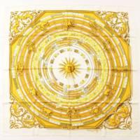 カレ90 シルクスカーフ DIES ET HORE 占星術 ホワイト