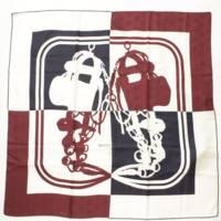 カレ90 シルク スカーフ BRIDES DA GALA QUADRI TATOO トリコロール