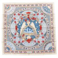 エルメス カレ90 シルク スカーフ Lumieres De Paris パリの灯 ブルー