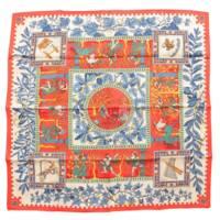 カレ90 シルク スカーフ KYMBALA 古代ローマ シルクスカーフ レッド