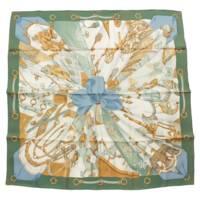 カレ90 シルク スカーフ Soleil de Soie シルクの太陽 グリーン