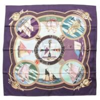 カレ90 シルクスカーフ BELLES AMURES 帆の美学 マルチカラー
