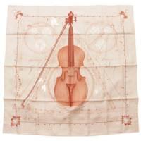 カレ90 シルクスカーフ La Musique des Spheres 球体が奏でる音楽 ベージュ