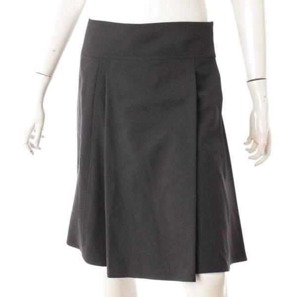 巻き プリーツ スカート ブラック 36