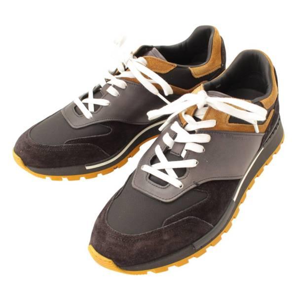 メンズ Run Track ラントラック スニーカー レザー スエード ブラック 7 1/2