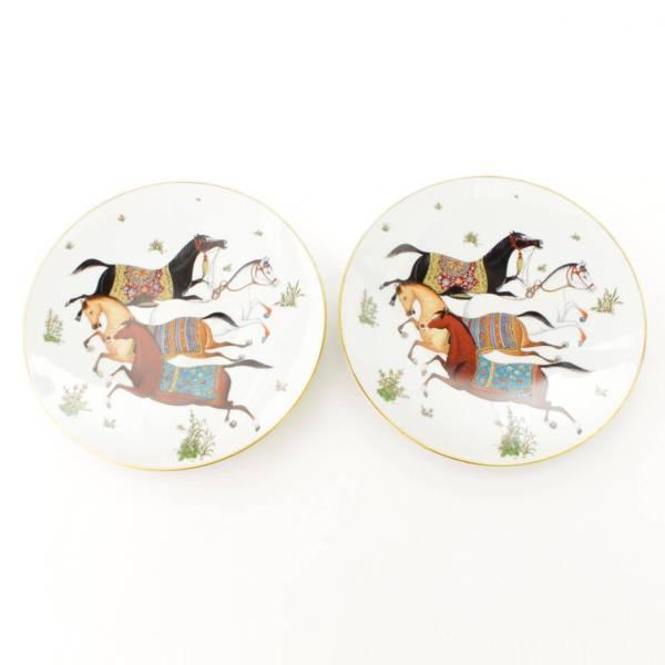 プレート 皿 シュヴァルドリアン 2枚セット ホワイト×ゴールド