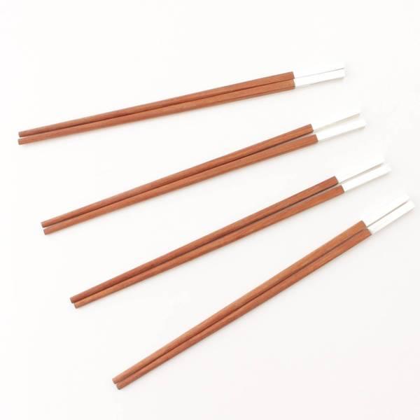 レア お箸 6膳セット チョップスティック メタル/ウッド