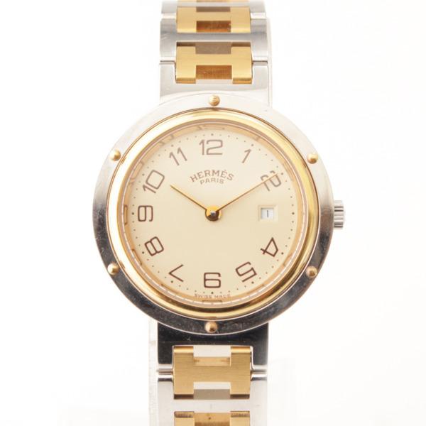 メンズ クリッパー コンビ クオーツ 腕時計 シルバー×ゴールド