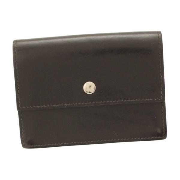 セリエ ボックスカーフ カードケース □F刻印 ブラック