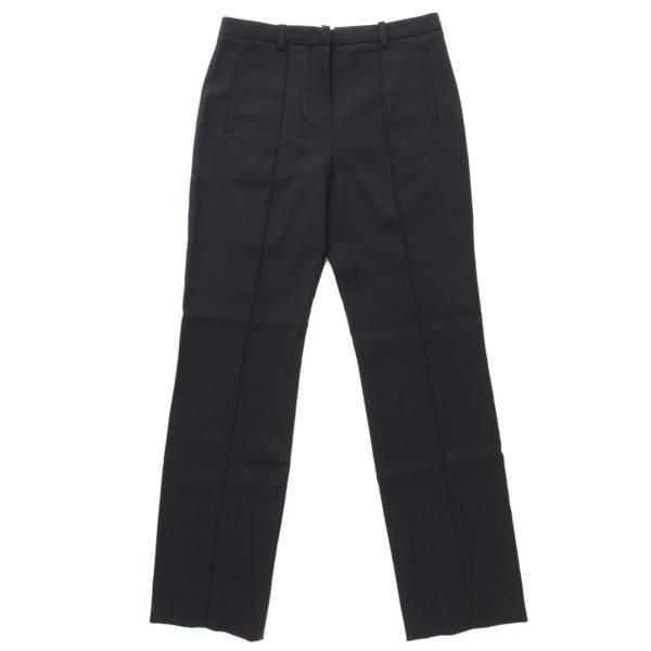 ウール スラックス パンツ ネイビー 34