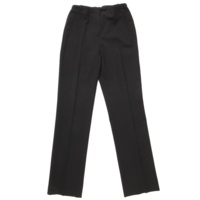 ウール スラックス パンツ ブラック 34