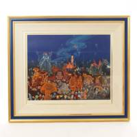 ヒロ・ヤマガタ『エレクトリカルパレード』貴重なディズニーコラボ絵画・訳あり特価