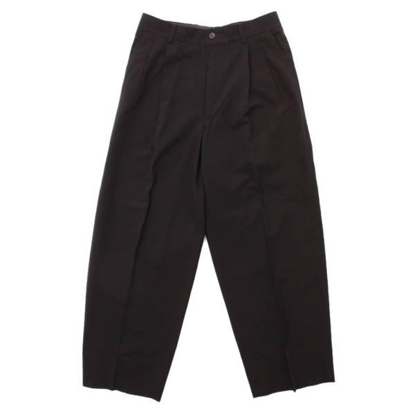 シルク混 2タック スラックス パンツ ME61-FF139 ブラック L