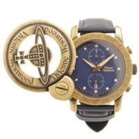 CAGE Mウォッチ アンティークゴールド 腕時計 VW-2863 文字盤 ネイビー