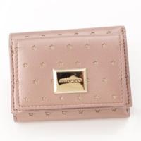 MAGDA スター レザー 三つ折り財布 ピンク