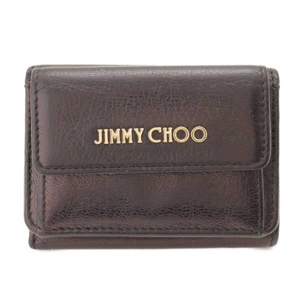 NEMO ネモ レザー コンパクト ウォレット 三つ折り財布 ブラック