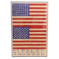 ジャスパー・ジョーンズの代表作「ダブルフラッグ」限定リトポスター 特別価格 絵画