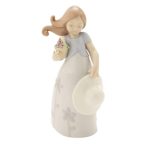 少女 リトル・バイオレット 陶器人形 置物 インテリア 8043