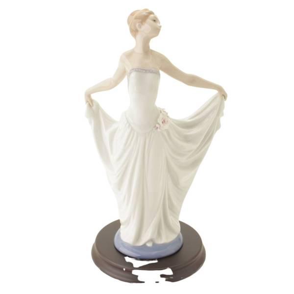 踊る少女 置物 人形 陶器 インテリア 7189