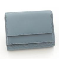 アナグラム ミニ コンパクトウォレット 三つ折り財布 ブルー