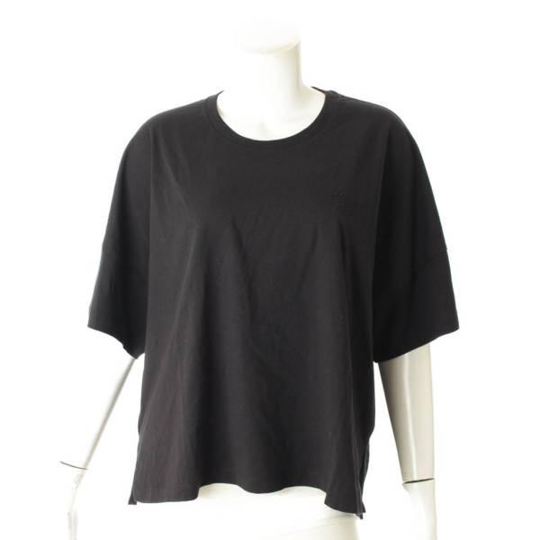 アナグラム 刺繍 オーバーサイズ Tシャツ ブラック S
