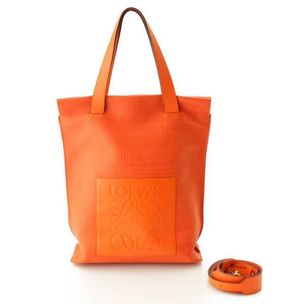 アナグラム ショッパー 2WAY トートバッグ ショルダーバッグ オレンジ