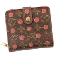モノグラムチェリー コンパクト・ジップ 折財布  M95005 ブラウン