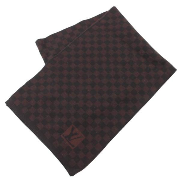 エシャルププティダミエ マフラー 402330 ブラック ブラウン