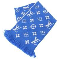 モノグラム エシャルプ ロゴマニア マフラー  M71839 ブルー
