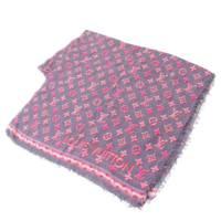 ポップモノグラム 大判 ストール ショール M70828 ネイビー ピンク
